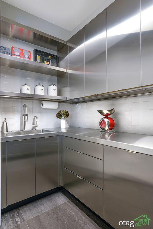 انواع مدل کابینت فلزی در دکوراسیون آشپزخانه مدرن