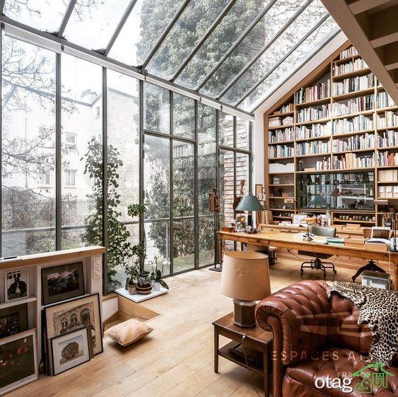 انواع طراحی و عکس مدل کتابخانه خانگی چوبی و دکوری