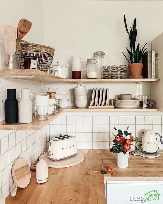 زیباترین مدل های شلف و قفسه آشپزخانه مدرن در سال 2020
