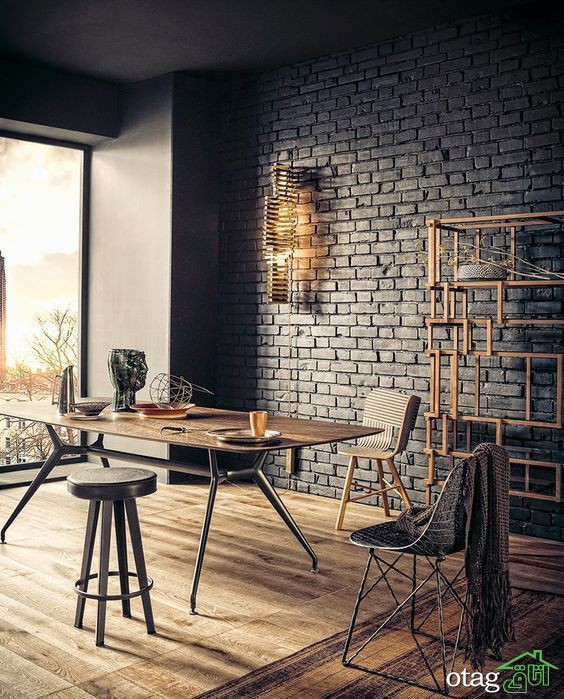 دیوار آجری در دکوراسیون داخلی منزل [10مدل جدید]