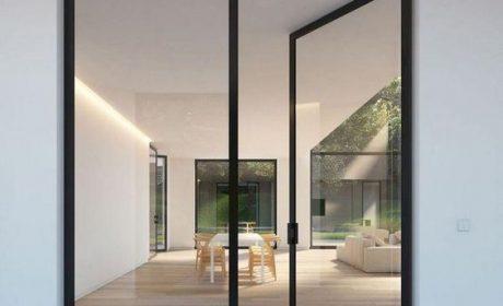 مدل در کشویی شیشه ای و چوبی دکوراسیون داخلی
