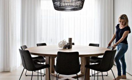 مدل میز ناهارخوری دایره شکل با طرح های بسیار جدید و شیک