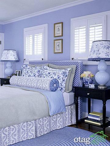 15 طرح زیبا از اتاق خواب بنفش رنگ و [ رمانتیک دو نفره ]