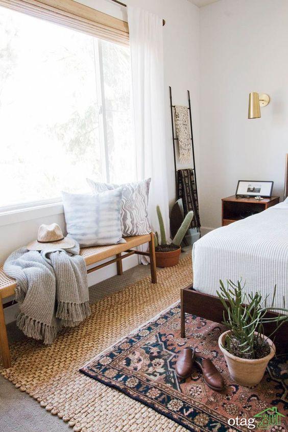 قالیچه و فرش اتاق خواب بزرگسالان با طرح های متنوع و گوناگون