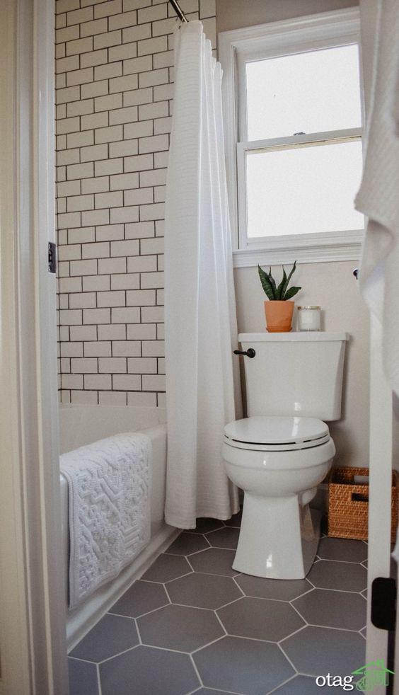 دکوراسیون کاربردی و شیک حمام و سرویس بهداشتی کوچک [ 5 طرح جدید ]