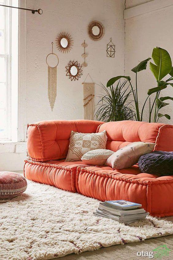 مدل بالش و کوسن صندلی با طرح و رنگ های فانتزی، جدید و شیک