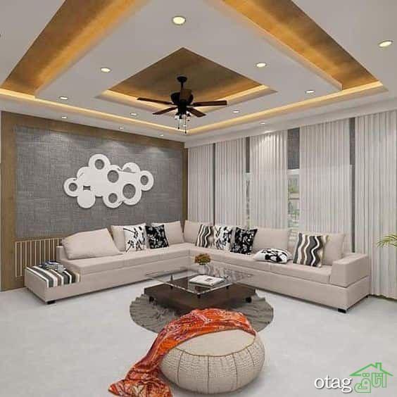 سقف کاذب کناف فوق العاده شیک مناسب برای منزل و اماکن عمومی