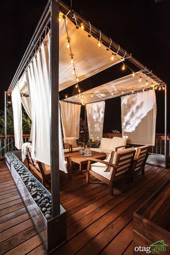 طراحی و تزئین دکوراسیون پشت بام خانه با ایده های تازه و زیبا