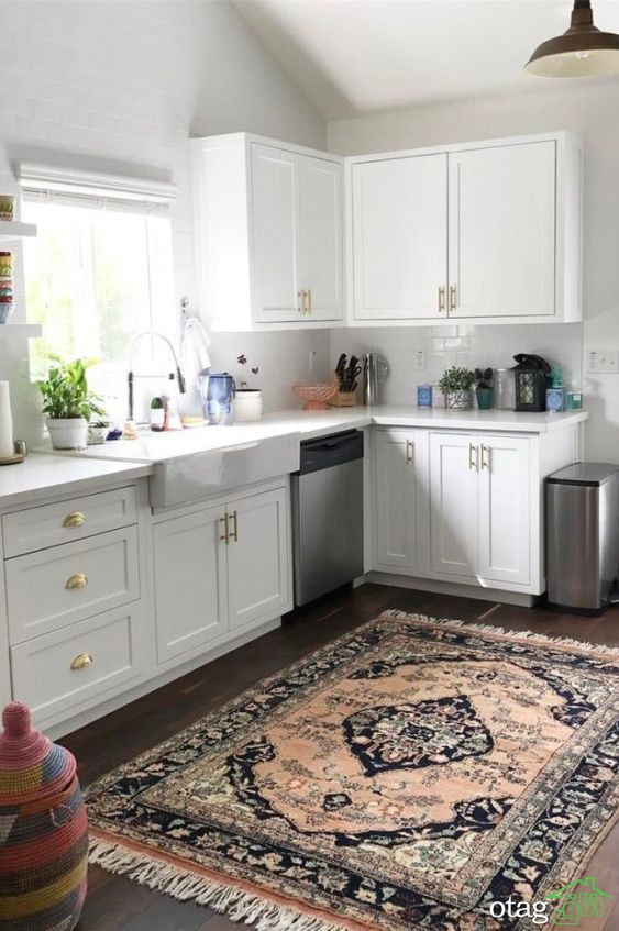 مدل فرش و قالی آشپزخانه در طرح و رنگ های امروزی و آنتیک