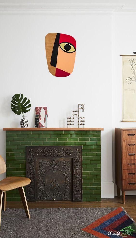 تزئین دیوار دکوراسیون داخلی منزل با دیوارپوش سنگی دکوراتیو
