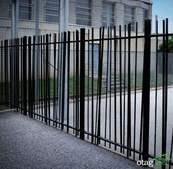 مدل های جدید و شیک حفاظ فلزی دیوار حیاط و اطراف خانه