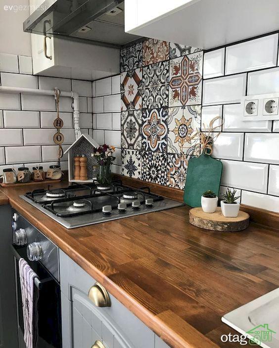 مدل کاشی آشپزخانه در طرح و رنگ های مختلف و بسیار شیک