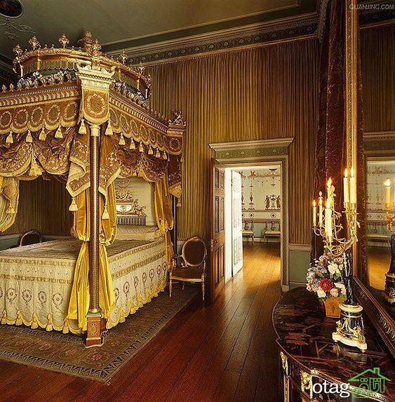 مدل های فاخر تخت خواب کلاسیک و سلطنتی در دکوراسیون اتاق