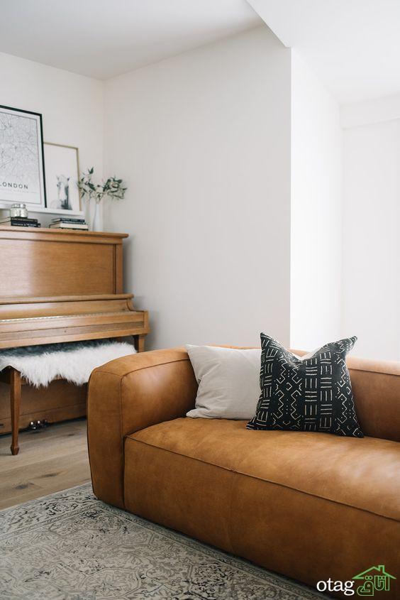 جدیدترین و زیباترین مدل های مبل چرم در چیدمان دکوراسیون منزل