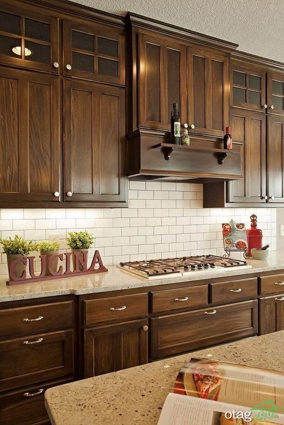 جدیدترین مدل های کابینت چوبی در دکوراسیون آشپزخانه