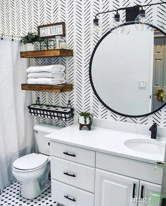 کمد و قفسه دیواری حمام و سرویس بهداشتی [با طراحی شیک و امروزی]