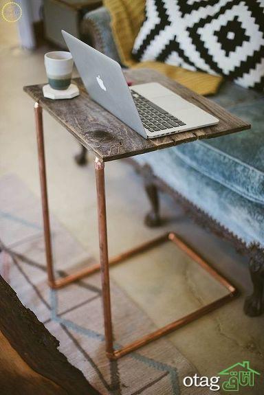 مدل میز کار و لپ تاپ کوچک و جمع و جور مناسب فضاهای کوچک