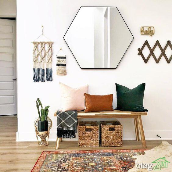 مدل های جدید آینه دیواری در شکل ها وطرح های مختلف