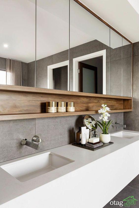 قفسه و شلف حمام در طرح های و مدل های جدید و متفاوت