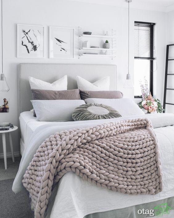 مدل بالش و روتختی شیک مناسب تخت خواب های یک و دو نفره