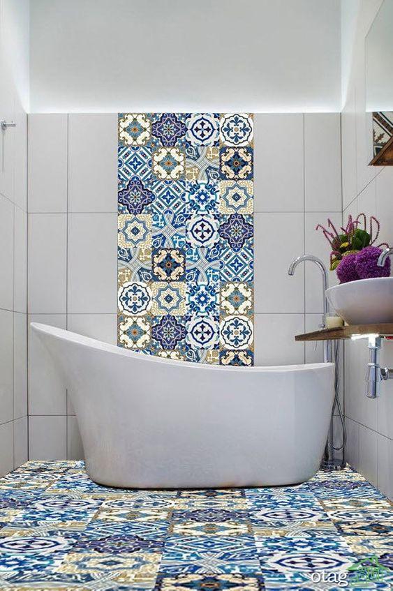 مدل کاشی حمام و سرویس بهداشتی در طرح های جذاب و جدید