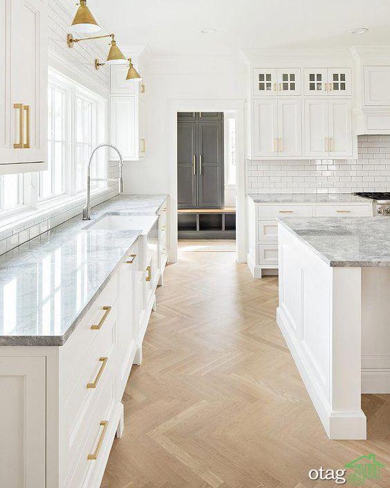 مدل کابینت سفید در دکوراسیون آشپزخانه های مدرن و امروزی