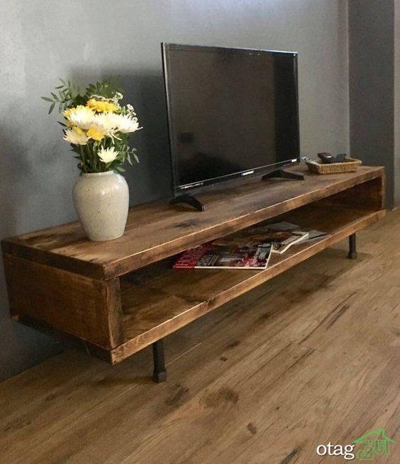 15 مدل میز تلویزیون چوبی شیک ال سی دی
