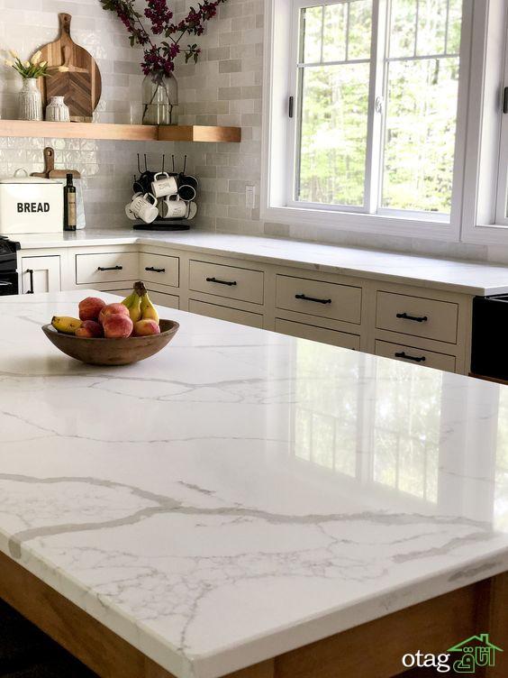 مدل سنگ کابینت آشپزخانه مناسب خانه های جدید و قدیمی