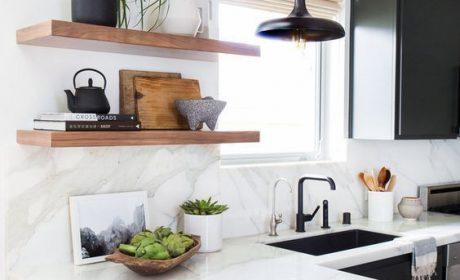 مدل قفسه آشپزخانه با طراحی مدرن و امروزی مناسب فضاهای کوچک
