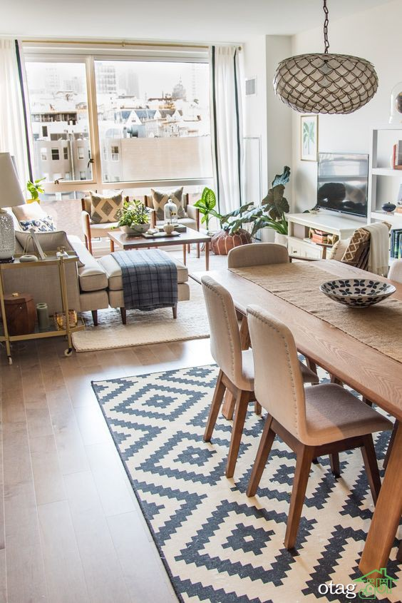 چیدمان پذیرایی مستطیل شکل بسیار جذاب در آپارتمان های امروزی