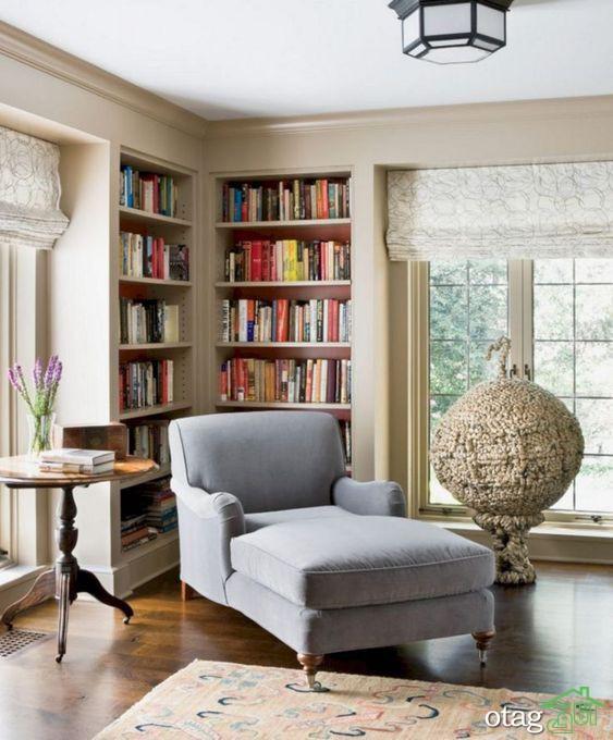 مدل کتابخانه خلاقانه و شیک مناسب تمامی اتاق های منزل