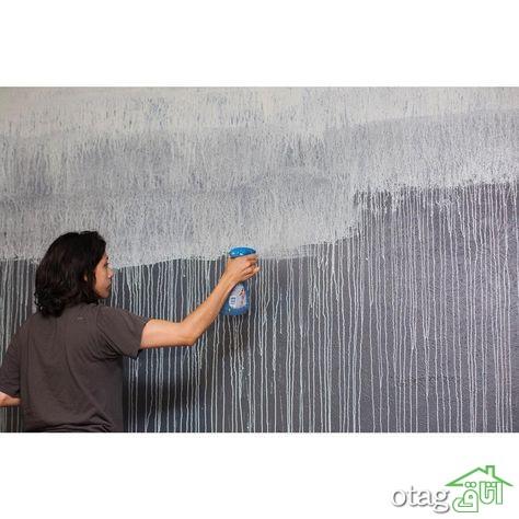 آموزش رنگ آمیزی دیوار با تکنیک های جدید و جالب در طراحی