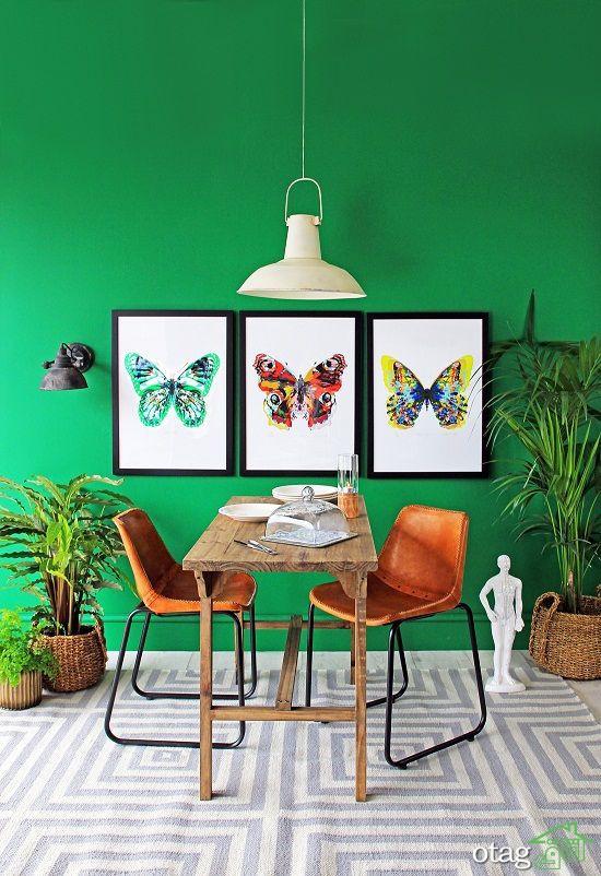 عکس هایی جدید و بسیار زیبا از دکوراسیون سبز و زرد منزل