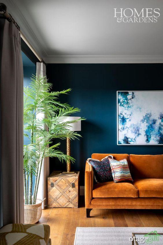 نحوه استفاده از انواع رنگ آبی در دکوراسیون داخلی بهمراه عکس