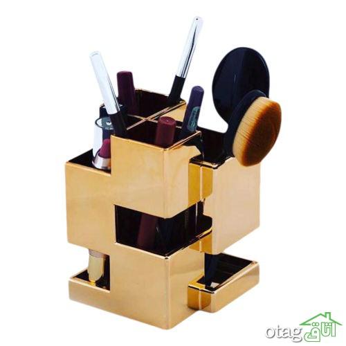 29 مدل جای لوازم آرایش [ رومیزی و ایستاده ] مناسب اتاق های کوچک