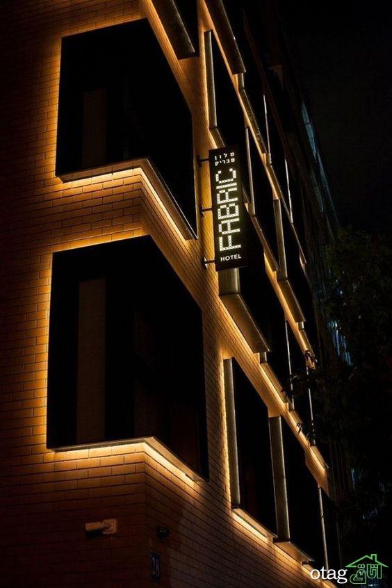 33 طرح زیبا برای نورپردازی نمای ساختمان مسکونی و تجاری