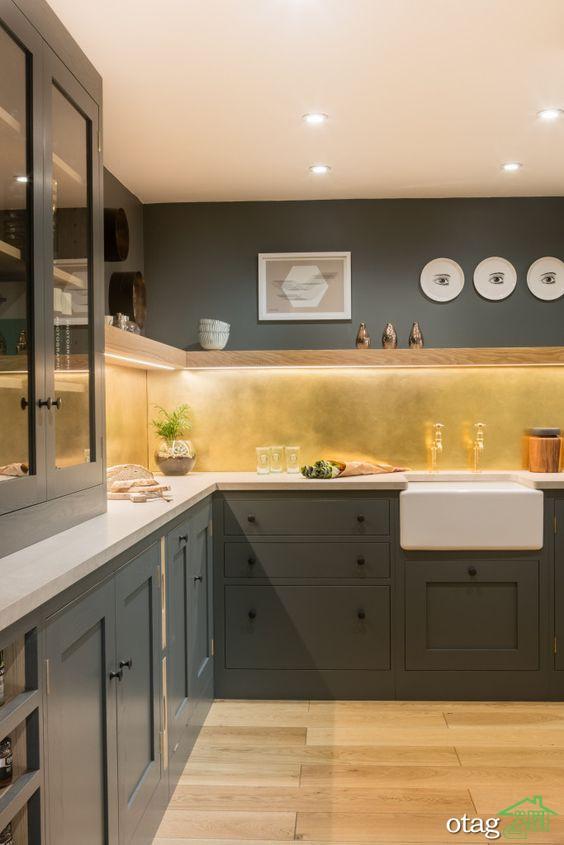 26 مدل عکس جدید از نور مخفی کابینت آشپزخانه با اجرای ساده