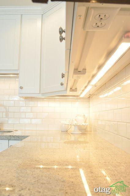 نور مخفی کابینت آشپزخانه با نوار ال ای دی