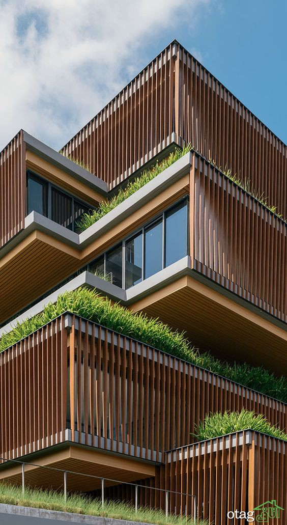 نمای آپارتمان مدرن با طراحی منحصر بفرد و پیچیده از سرتاسر جهان