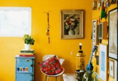 روش های جالب و ساده استفاده از رنگ زرد در اتاق خواب