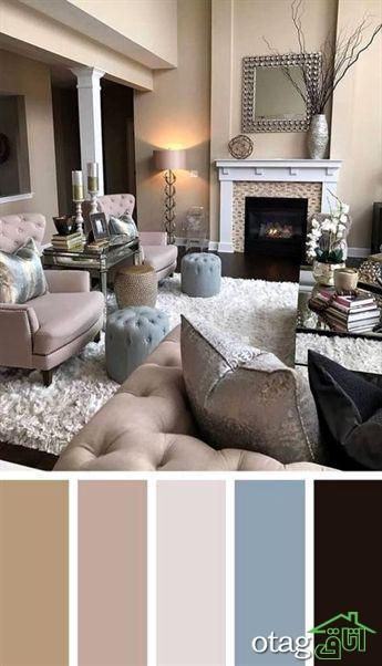 رنگ آمیزی اتاق پذیرایی و نشیمن [ با ترکیب های زیبا و جدید ]