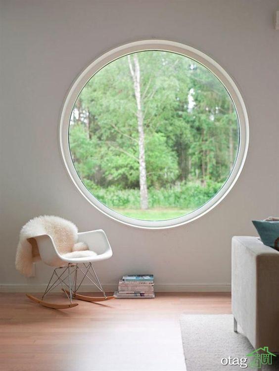 مدل پنجره گرد برای تمام اتاق های منزل همراه با عکس