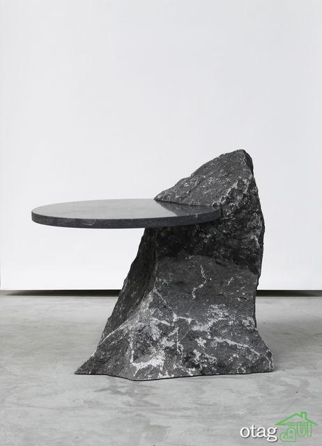 مدل میز سنگی شیک مناسب برای بالا بردن کلاس دکوراسیون پذیرایی
