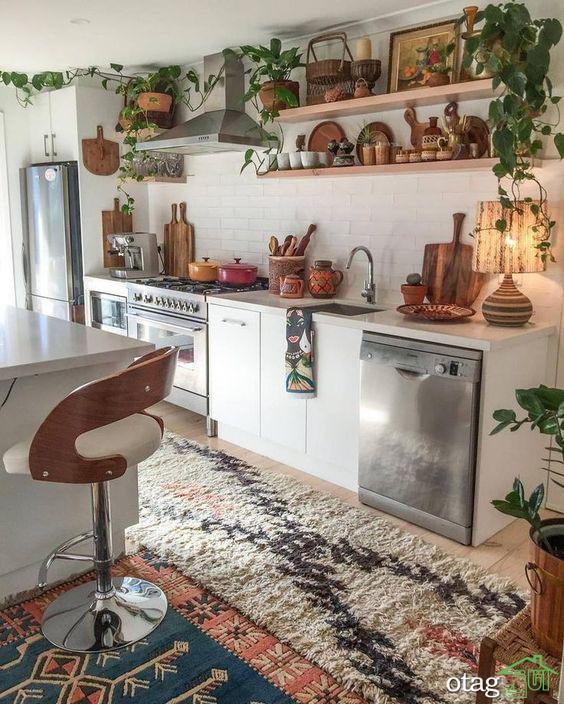 ترکیب رنگ وسایل آشپزخانه در طرح های بسیار [ شاد و انرژیک ]