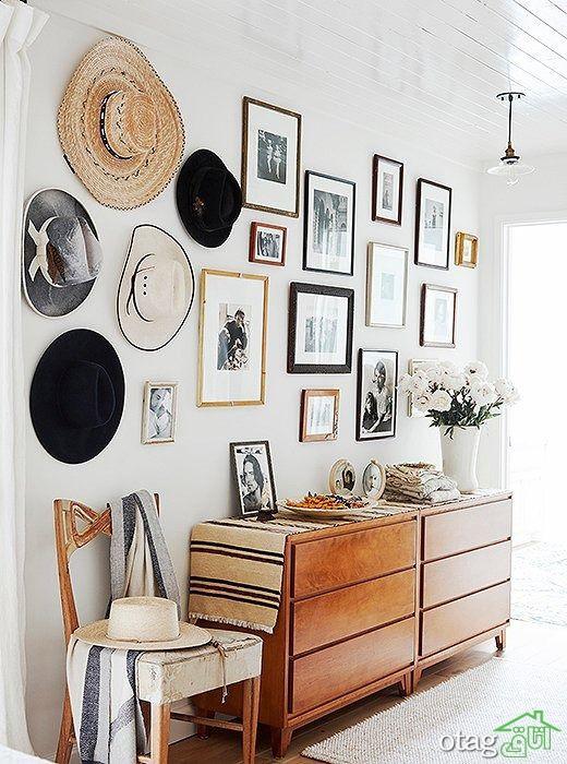 تزیین دیوار با حصیر به روشی زیبا مناسب تمام اتاق های منزل