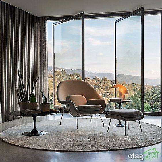 پنجره تمام شیشه ای مناسب برای خانه های ویلایی با مناظر زیبا