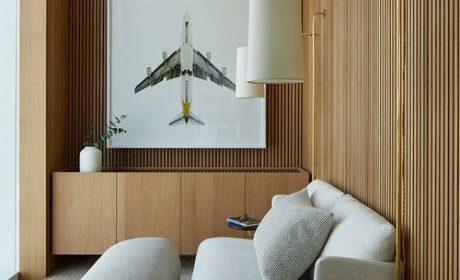 دکوراسیون چوبی منزل با طراحی و اجری ساده اما فوق العاده شیک