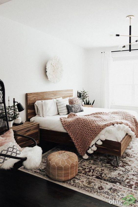 28 مدل دکوراسیون اتاق خواب سفید با فضایی بسیار آرامش بخش