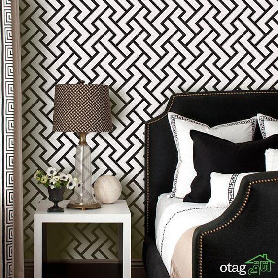 [25 طرح شیک] کاغذ دیواری سفید و مشکی مناسب برای هر نوع چیدمانی