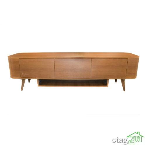 40 مدل میز تلویزیون مدرن چوبی، فلزی و شیشه ای [شیک] 2020